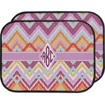 Ikat Chevron Car Floor Mats (Back Seat) (Personalized)