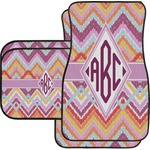 Ikat Chevron Car Floor Mats (Personalized)