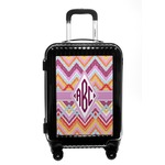 Ikat Chevron Carry On Hard Shell Suitcase (Personalized)