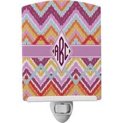 Ikat Chevron Ceramic Night Light (Personalized)