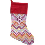 Ikat Chevron Christmas Stocking (Personalized)