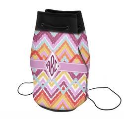Ikat Chevron Neoprene Drawstring Backpack (Personalized)