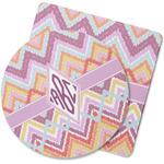 Ikat Chevron Rubber Backed Coaster (Personalized)