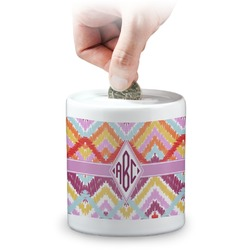Ikat Chevron Coin Bank (Personalized)
