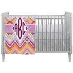 Ikat Chevron Crib Comforter / Quilt (Personalized)