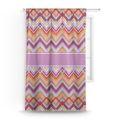 "Ikat Chevron Curtain - 50""x84"" Panel (Personalized)"