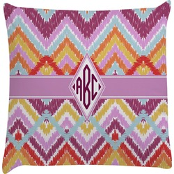 Ikat Chevron Decorative Pillow Case (Personalized)