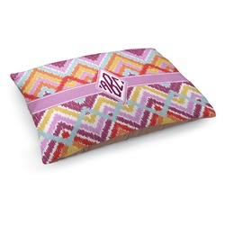 Ikat Chevron Dog Pillow Bed (Personalized)