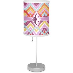 "Ikat Chevron 7"" Drum Lamp with Shade (Personalized)"