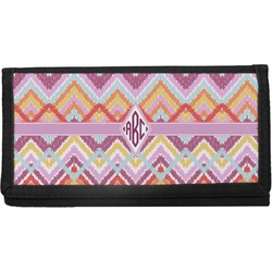 Ikat Chevron Canvas Checkbook Cover (Personalized)