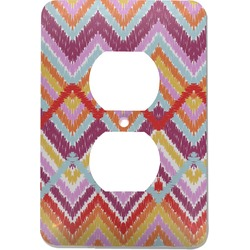 Ikat Chevron Electric Outlet Plate (Personalized)