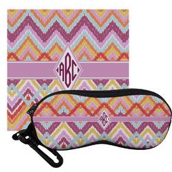 Ikat Chevron Eyeglass Case & Cloth (Personalized)
