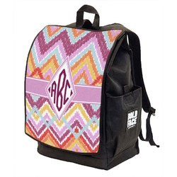 Ikat Chevron Backpack w/ Front Flap  (Personalized)