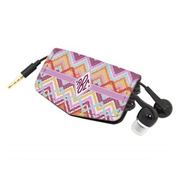 Ikat Chevron Genuine Leather Cord Wrap (Personalized)