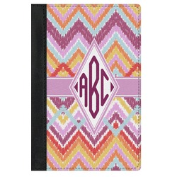 Ikat Chevron Genuine Leather Passport Cover (Personalized)