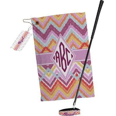 Ikat Chevron Golf Towel Gift Set (Personalized)