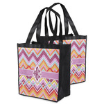 Ikat Chevron Grocery Bag (Personalized)