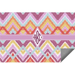 Ikat Chevron Indoor / Outdoor Rug (Personalized)