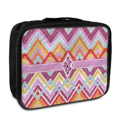 Ikat Chevron Insulated Lunch Bag (Personalized)