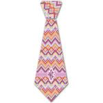 Ikat Chevron Iron On Tie - 4 Sizes w/ Monogram