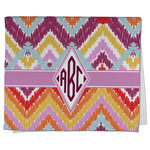 Ikat Chevron Kitchen Towel - Full Print (Personalized)