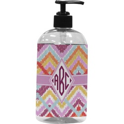 Ikat Chevron Plastic Soap / Lotion Dispenser (Personalized)
