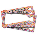 Ikat Chevron License Plate Frame (Personalized)