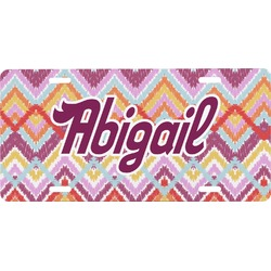 Ikat Chevron Front License Plate (Personalized)