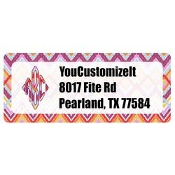 Ikat Chevron Return Address Label (Personalized)