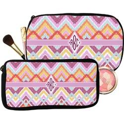 Ikat Chevron Makeup / Cosmetic Bag (Personalized)