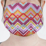 Ikat Chevron Face Mask Cover (Personalized)