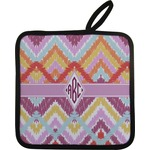 Ikat Chevron Pot Holder w/ Monogram