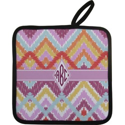 Ikat Chevron Pot Holder (Personalized)