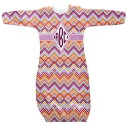 Ikat Chevron Newborn Gown (Personalized)