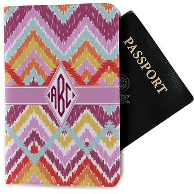 Ikat Chevron Passport Holder - Fabric (Personalized)