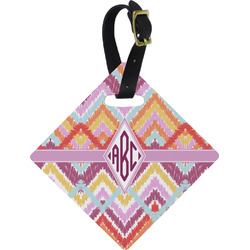 Ikat Chevron Diamond Luggage Tag (Personalized)