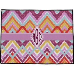 Ikat Chevron Door Mat (Personalized)