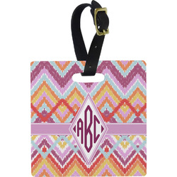Ikat Chevron Luggage Tags (Personalized)