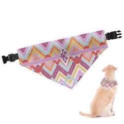 Ikat Chevron Dog Bandana (Personalized)