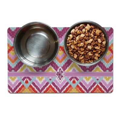 Ikat Chevron Dog Food Mat (Personalized)