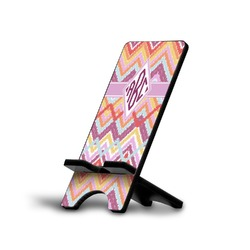 Ikat Chevron Phone Stand (Personalized)
