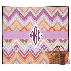 Ikat Chevron Outdoor Picnic Blanket (Personalized)