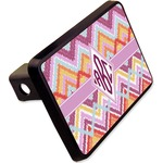 """Ikat Chevron Rectangular Trailer Hitch Cover - 2"""" (Personalized)"""