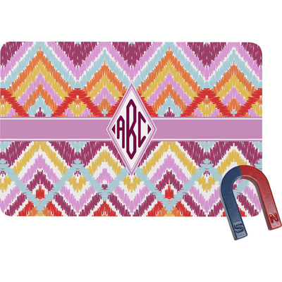 Ikat Chevron Rectangular Fridge Magnet (Personalized)