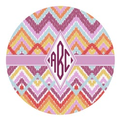 Ikat Chevron Round Decal (Personalized)