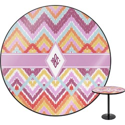Ikat Chevron Round Table (Personalized)