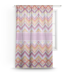 Ikat Chevron Sheer Curtains (Personalized)