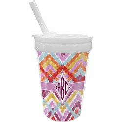 Ikat Chevron Sippy Cup with Straw (Personalized)