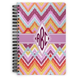 Ikat Chevron Spiral Notebook (Personalized)