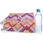 Ikat Chevron Sports & Fitness Towel (Personalized)